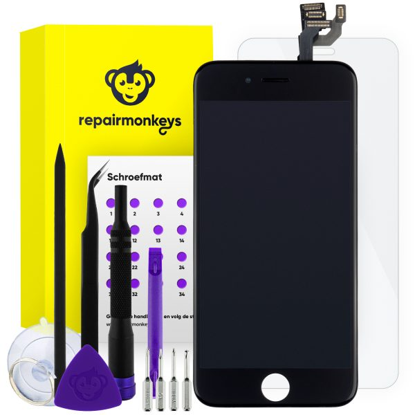 Repair Monkeys iPhone 6 zwart Scherm Reparatieset