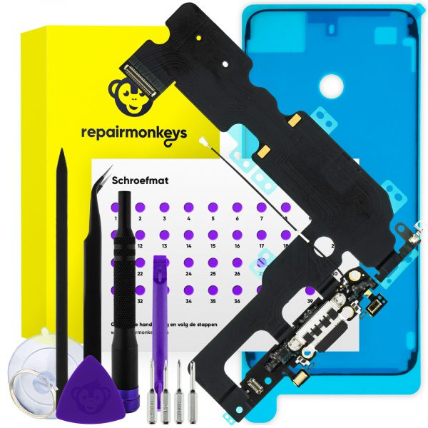 Repair Monkeys iPhone 7 Plus zwart dock connector