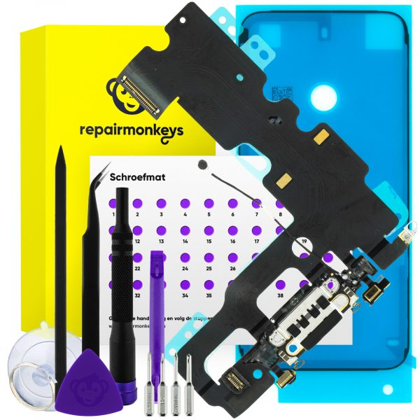Repair Monkeys iPhone 7 zwart dock connector