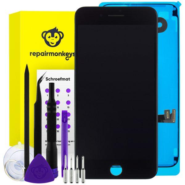 Repair Monkeys iPhone 8 Plus zwart Scherm Reparatieset
